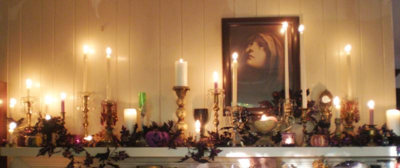 mantle by candlelight