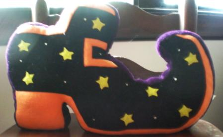 witch shoe pillow